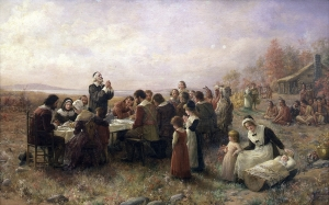 First-Thanksgiving-at-Plymouth-by-Brownscombie