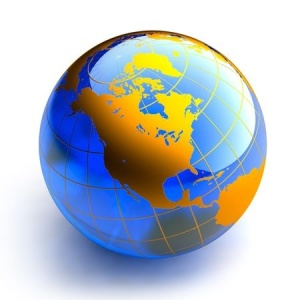 globe with North America