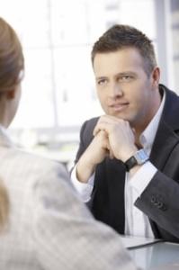 Businessman-listening-intently