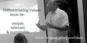 Differentiating Values Unique Relevant Sustainable