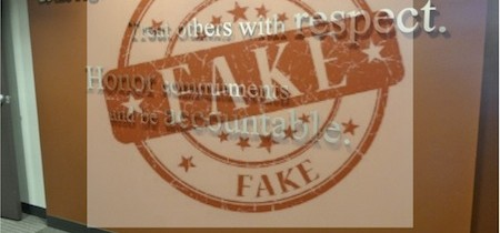 10 Indicators That Business Values Might Be Fake