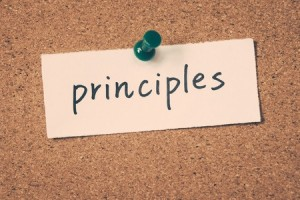 Principles-pinned-to-a-corkboard