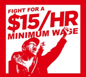 Fight for $15 an hour wage image