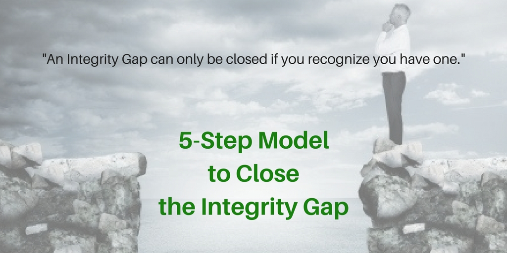 5 step model to close the inegrity gap